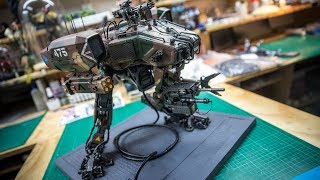 Weta Workshop's MOOSE Attack Robot from Chappie!