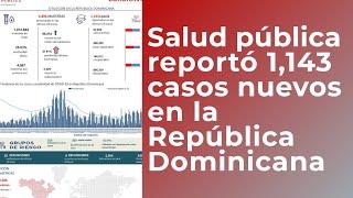 Salud Pública reportó 1,143 casos nuevos en el boletín 313 de la Republica Dominicana