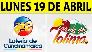 Resultados Lotería de CUNDINAMARCA y TOLIMA Lunes 19 de Abril de 2021 | PREMIO MAYOR ????????????