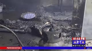 ¡Incendio arrasó vivienda en col. Buena Vista, Pimienta, Cortés!