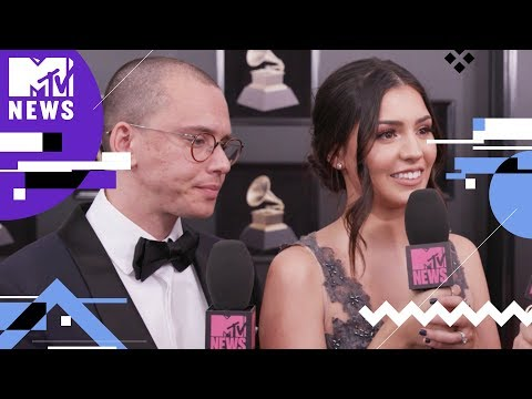 Logic & Jessica Andrea Talk About New Music 🎤  | GRAMMYs 2018 | MTV News