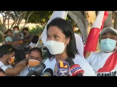 "PBO ELECCIONES 2021 - KEIKO FUJIMORI SOBRE ENCUESTA DATUM: ""LES PIDO NO BAJAR LA GUARDIA"""