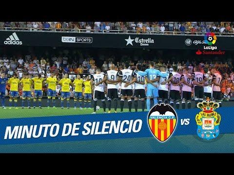 Minuto de silencio en el Valencia CF vs UD Las Palmas