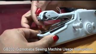 GB202-Gizmobaba Mini Sewing Machine: USAGE