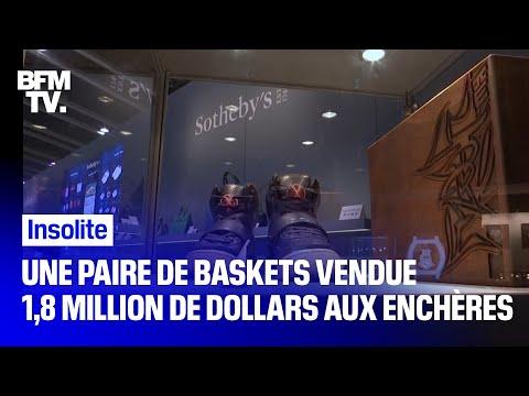 Une paire de baskets portée par Kanye West vendue 1,8 million de dollars aux enchères
