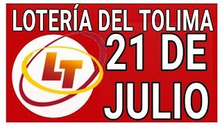 Resultados lotería del Tolima 21 de Julio de 2020