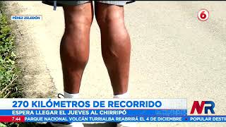 Vecino de San Francisco de Dos Ríos cumple 8 días de caminata desde Puntarenas al Chirripó