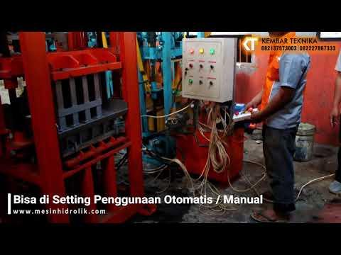 Video Mesin Cetak Paving Full Otomatis
