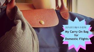 海外旅行 ロンシャン『国内旅行機内手荷物 My Carry on Bag for Domestic Flights』などなど