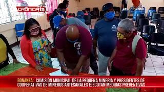 Bonanza: Comisión de la pequeña minería toman medidas para prevenir el coronavirus - Nicaragua