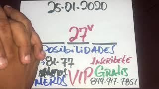 NÚMEROS PARA HOY 25 DE ENERO DEL AÑO 2020 - PARA JUGAR EN LAS LOTERÍAS.