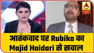 When Rubika Liyaqat shushed Majid Haidari down - ABPNEWSTV