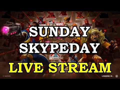 connectYoutube - Sunday Skypeday Grind with Kam | Marvel Contest of Champions Live Stream