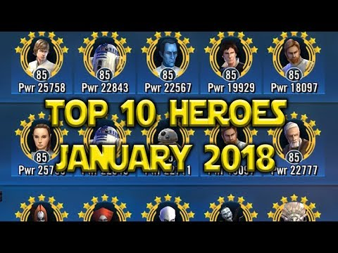 connectYoutube - Top 10 Best Heroes January 2018   Star Wars: Galaxy Of Heroes - SWGoH