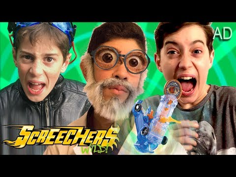 Screechers Wild Toys and The Crazy Toy Inventor - Fun Kids Parody