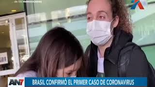 Brasil confirmó el primer caso de coronavirus en Latinoamérica