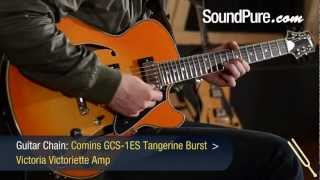 Comins GCS-1ES Semi Hollow Body Guitar w/ Tangerine Burst