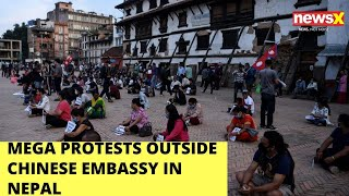 Mega Protests our Chinese embassy in Nepal | NewsX - NEWSXLIVE