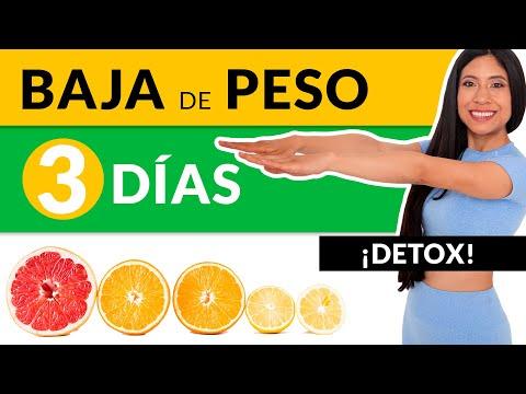 Baja de Peso en 3 días: Dieta fácil para bajar 3 kilos