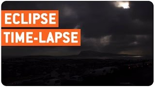 Amazing Solar Eclipse Time-Lapse   Sun To Darkness