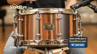 Metro 7x14 Jarrah Ply Snare Drum-Royal Ebony Satin Quick n' Dirty