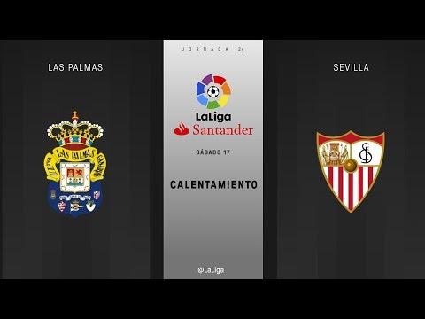 Calentamiento Las Palmas vs Sevilla