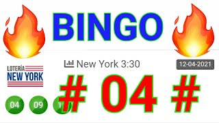 BINGO HOY....!! ((( 04 ))) loteria NEW YORK/ UN SÓLO NÚMERO PARA HOY/ NÚMEROS RECOMENDADOS PARA HOY