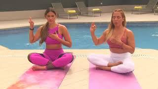 Zusette Ghersi hace MEDITACIÓN PARA OBTENER TRANQUILIDAD en SONESTA HOTEL EL OLIVAR para #Yogaconzu