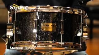 Pork Pie 7x14 Maple Snare Drum-Black Glass Glitter - Quick n' Dirty