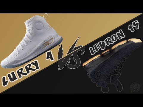 Under Armour Curry 4 vs Nike Lebron 15!