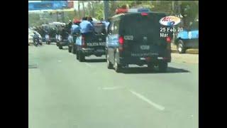 Fuerte presencia policial previa marcha opositora