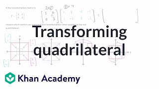 Transforming a quadrilateral