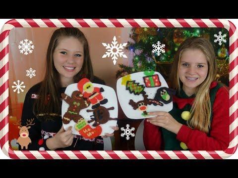 connectYoutube - HOLIDAY PANCAKE ART CHALLENGE    CHRISTMAS 2017    Taylor and Vanessa