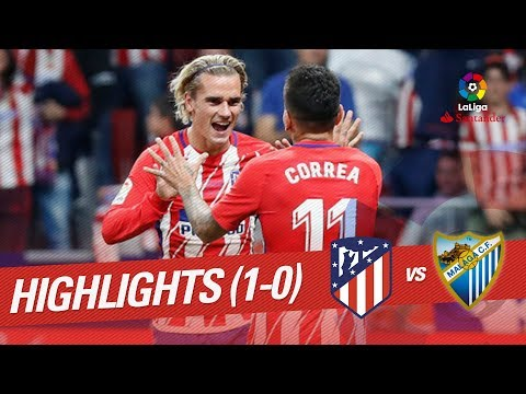 Resumen de Atlético de Madrid vs Málaga CF (1-0)