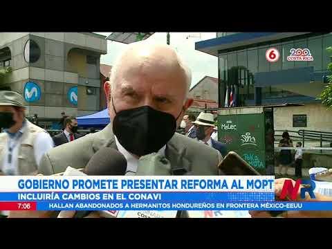 Gobierno promete presentar reforma al MOPT antes de finalizar su gestión