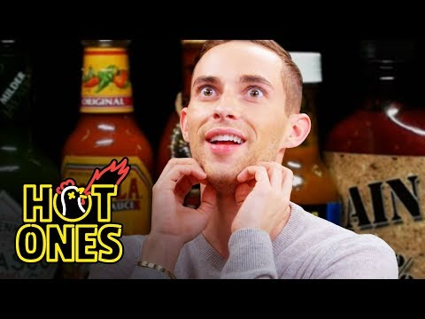 connectYoutube - Adam Rippon Competes in the Olympics of Eating Spicy Wings | Hot Ones