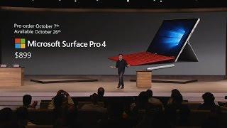 Microsoft unveils Surface Pro 4