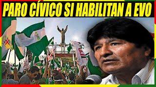 Santa Cruz Irá al Paro Indefinido si TSE Habilita la Candidatura de Evo Morales