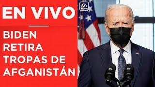 EN VIVO | Joe Biden anuncia retirada de tropas estadounidenses de Afganistán
