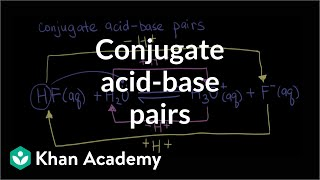 Conjugate acid-base pairs | Acids and bases | Chemistry | Khan Academy