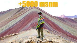 Mal de altura en la Montaña de 7 Colores (subí corriendo)   Cusco, Perú