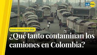 ¿Qué tanto contaminan los camiones en Colombia