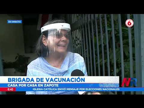 Brigada de vacunación visita casa por casa en Zapote