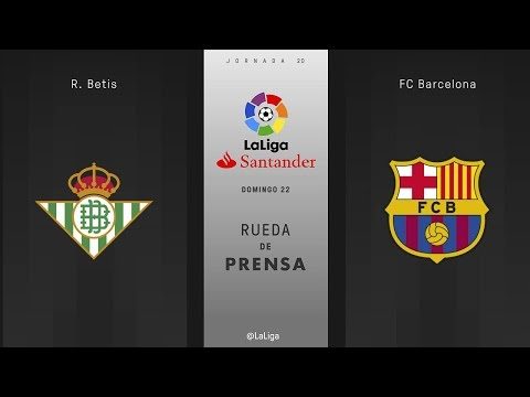 Rueda de prensa R. Betis vs FC Barcelona