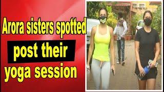 Malaika Arora spotted with her sister Amrita Arora post their yoga session - BOLLYWOODCOUNTRY