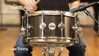 DW 6.5x14 Collectors Series Carbon Fiber Snare Drum Quick n' Quick