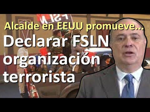 Alcalde en EEUU promueve fuerte golpe al FSLN