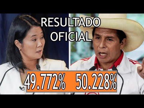 RESULTADO OFICIAL elecciones en Perú