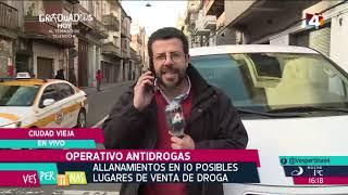Vespertinas - Operativo antidrogas Ciudad Vieja