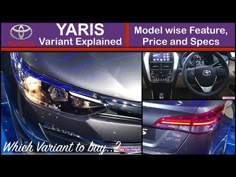 Yaris Variants Explained | Yaris G,J,V and Vx Model Wise Features and Price | Yaris Variants